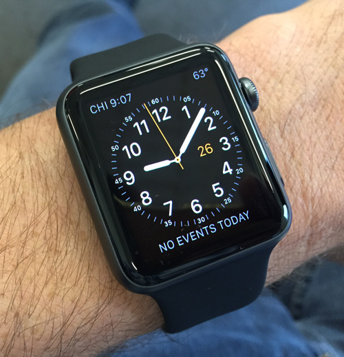 Apple watch in black