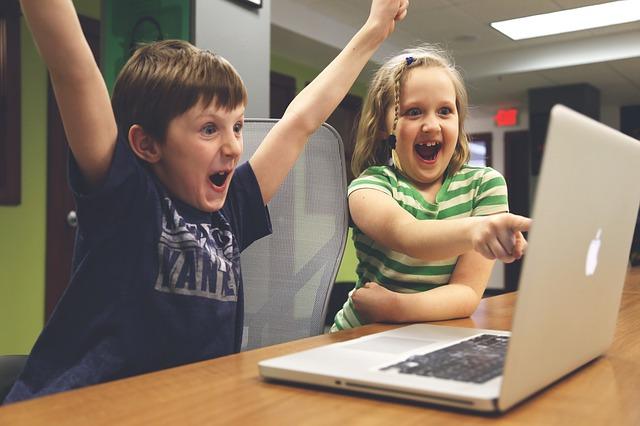 Having fun on the computer
